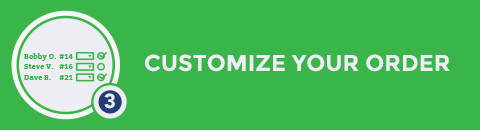 Step 3: Customize your order