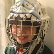 Maisie wearing helmet